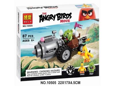 Конструктор Angry Birds «Побег на автомобиле свинок» (Bela 10505)