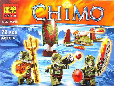 Конструктор Chima «Лагерь клана Крокодилов» (Bela 10348)