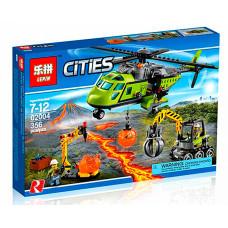 Конструктор City «Грузовой вертолет исследователей вулканов » (Lepin 02004)