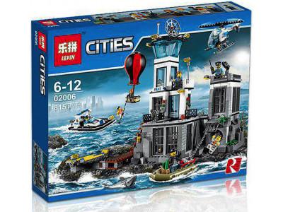 Конструктор City «Остров-тюрьма» (Lepin 02006)