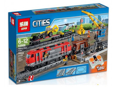 Конструктор City «Мощный грузовой поезд» (Lepin 02009)