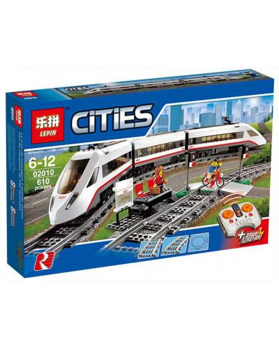 Конструктор City «Скоростной пассажирский поезд» (Lepin 02010)