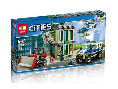 Конструктор City «Ограбление на бульдозере» (Lepin 02019)