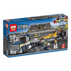 Конструктор City «Грузовик для перевозки драгстера» (Lepin 02025)