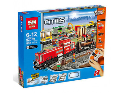 Конструктор City «Красный грузовой поезд» (Lepin 02039)