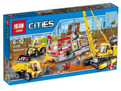 Конструктор City «Снос старого здания» (Lepin 02042)