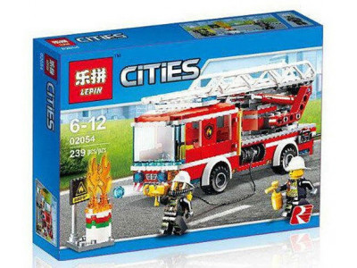 Конструктор City «Пожарный автомобиль с лестницей» (Lepin 02054)
