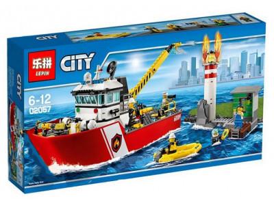 Конструктор City «Пожарный катер » (Lepin 02057)