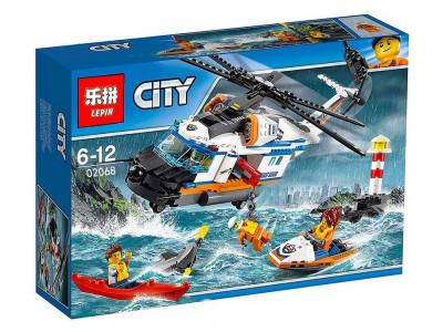 Конструктор City «Сверхмощный спасательный вертолёт» (Lepin 02068)