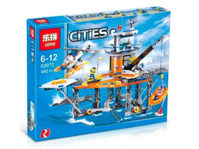 Конструктор City «Платформа береговой охраны» (Lepin 02070)