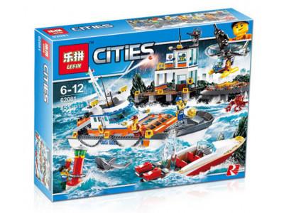 Конструктор City «Штаб береговой охраны» (Lepin 02081)