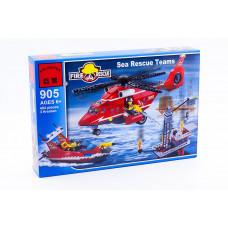 Конструктор City «Морская пожарная команда: вертолет и катер» (Brick 905)