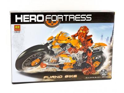 Конструктор Hero Fortress «Фурно Байкер» (Bela 9907)
