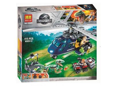 Конструктор Jurassic World «Погоня за Блю на вертолёте» (Bela 10925)