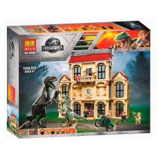 Конструктор Jurassic World «Нападение Индораптора в поместье Локвуд» (Bela 10928)