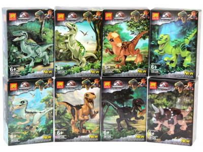 Набор 8 мини-конструкторов Dinosuar World «Динозавры» (Lele 39126)