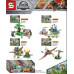 Набор 4 мини-конструктора Dinosaur World (SY1091)