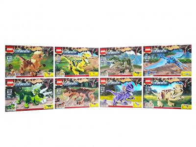 Набор 8 мини-конструкторов Jurassic World Dinosaur «Мир Юрского периода» (ZM307)