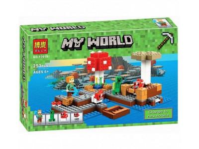 Конструктор Майнкрафт Cubeworld «Грибной остров» (Bela 10619)