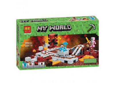 Конструктор Майнкрафт My World «Подземная железная дорога» (Bela 10620)