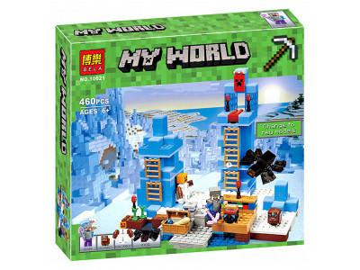 Конструктор Майнкрафт My World «Ледяные шипы» (Bela 10621)