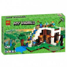 Конструктор Майнкрафт My World «База на водопаде» (Bela 10624)