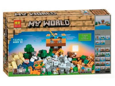 Конструктор Майнкрафт My World «Крафт 2.0 (Верстак 8 в 1)» (Bela 10733)