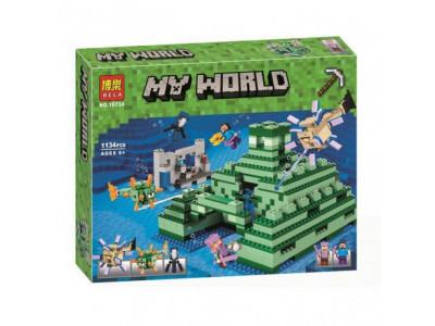 Конструктор Майнкрафт My World «Подводная крепость» (Bela 10734)