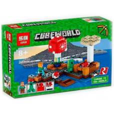 Конструктор Майнкрафт Cubeworld «Грибной остров» (Lepin 18023)