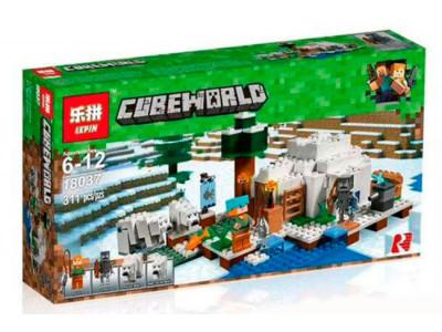 Конструктор Майнкрафт Cubeworld «Иглу» (Lepin 18037)