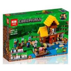 Конструктор Майнкрафт Cubeworld «Фермерский коттедж» (Lepin 18039)