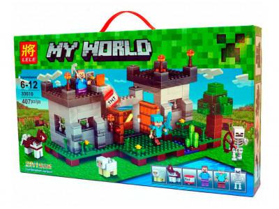 Конструктор Майнкрафт My World «Крепость с динамитом» (Lele 33010)