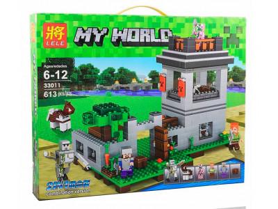 Конструктор Майнкрафт My World «Крепость с големом» (Lele 33011)