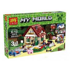 Конструктор Майнкрафт My World «Времена года 3 в 1» (Lele 33016)