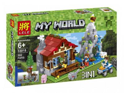 Конструктор Майнкрафт My World «Хижина в горах 3 в 1» (Lele 33018)