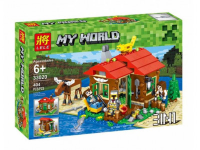 Конструктор Майнкрафт My World «Охотничий домик» (Lele 33020)