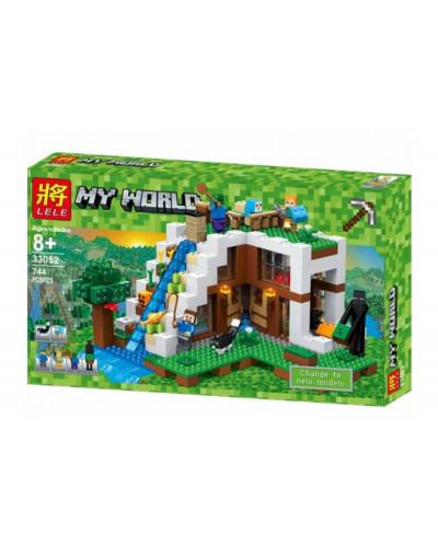 Конструктор Майнкрафт My World «База на водопаде» (Lele 33052)