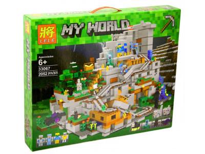 Конструктор Майнкрафт My World «Горная пещера» (Lele 33067)