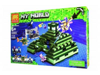 Конструктор Майнкрафт My World «Пирамида в океане» (Lele 33083)