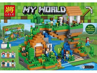Конструктор Майнкрафт My World «Дом у водопада» (Lele 33102)