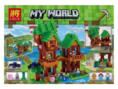 Конструктор Майнкрафт My World «Дом на переправе» (Lele 33106)