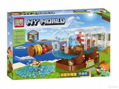 Конструктор Майнкрафт My World «Корабль в бутылке» (PRCK 63050)