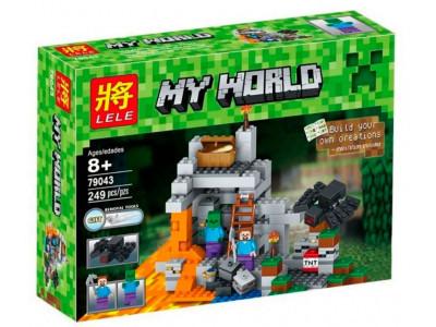 Конструктор Майнкрафт Cubeworld «Пещера» (Lele 79043)