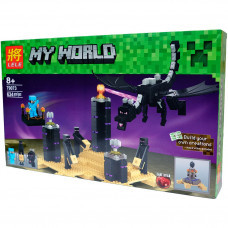 Конструктор Майнкрафт My World «Дракон края» (Lele 79073)