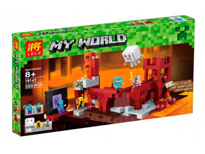Конструктор Майнкрафт My World «Подземная крепость» (Lele 79147)