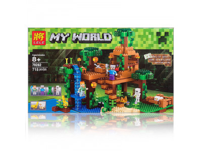 Конструктор Майнкрафт My World «Домик на дереве в джунглях» (Lele 79282)