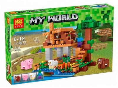Конструктор Майнкрафт My World «Ранчо ветряная мельница» (Lele 79289)