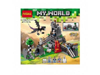 Конструктор Майнкрафт My World «Битва за замок» (Decool 822)