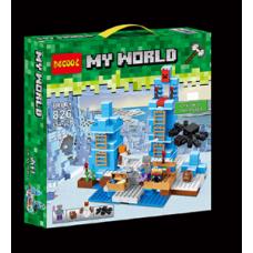 Конструктор Майнкрафт My World «Ледяные шипы» (Decool 826)