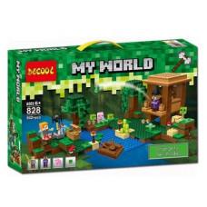 Конструктор Майнкрафт My World «Хижина ведьмы» (Decool 828)
